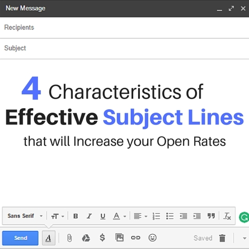 Characteristics of Effective Subject Lines